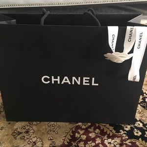 Other - Chanel gift bag with Camelia rose and ribbon.